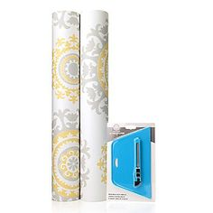 Nicole Curtis Home Set of Two Removable Wallpaper Rolls w/ Application Kit--beachwood or links