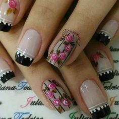 In our lives, there must be a lot of girls who like nails! Imagine that your delicate fingers have very delicate nails on your fingers,… Diy Nails, Cute Nails, Pretty Nails, Colorful Nail Designs, Nail Art Designs, Nail Studio, Flower Nails, Gorgeous Nails, Cool Nail Art