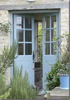 Beautiful blue doors.