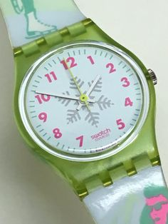 Vintage Ladies Swatch Watch Hice-Speed LL110 1991 by ThatIsSoFunny