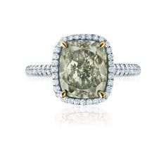 Birks Square Phillips® Platinum Chameleon Cushion Pavé Diamond Engagement Ring