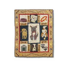 Patch Magic Fido Throw Quilt  Nothing better than cuddling up with our poochies Tink and Yogi Bear.