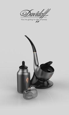 查看此 @Behance 项目: \u201cDavidoff's tobacco pipe\u201d https://www.behance.net/gallery/45349667/Davidoffs-tobacco-pipe