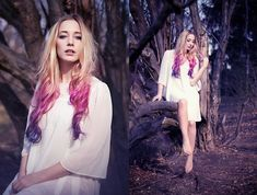 Gradient/ Ombre hair in pink and purple= love!!!