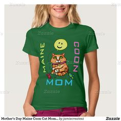 Mother's Day Maine Coon Cat Mom T-Shirt