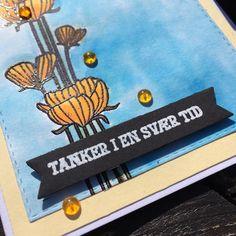 close up af kort med stempelsættet Fra hjertet af NHH Design. Kortet er lavet af Randi Heldt-Hansen.