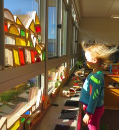 """Amazing picture from Tom Bedard - balancing colour blocks in the windows ("""",)"""