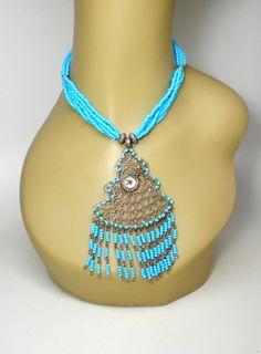 Vintage Necklace / Choker / Collar Multi Strands by BagsnBling, $15.95