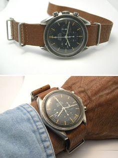 Vintage Omega Speedmaster w/ Leather Nato