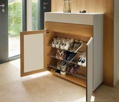 Shoe Storage Design, Shoe Cabinet Design, Hallway Shoe Storage, Shoe Storage Solutions, Shoe Storage Cabinet, Rack Design, Storage Cabinets, Storage Ideas, Shoe Cabinets