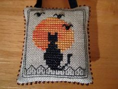 "Jaynes stitching tales- ""Waiting"" from Halloween 2012 issue of Just Cross Stitch"