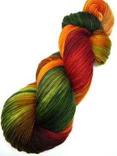 hand dyed yarn hand painted yarn by WeeChickadeeWoolery on Etsy                                                                                                                                                                                 More