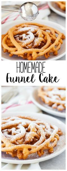 This Homemade Funnel Cake is delicious! | Funnel Cake | Fair Food | Funnel Cake Recipe