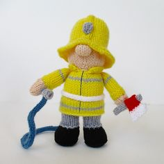 Woman s Weekly Knitting Patterns Toys : Fireman Sam Toy Knitting Pattern: Measurements 32cm high (Womans Weekly ...