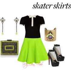 """""""How Do You Style Skater Skirts?"""" by myownflow on Polyvore"""