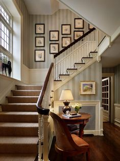 Staircase-wallpaper-designs-staircase-traditional-with-woven-chair-wood-bannister-white-spindles.jpg 742×990 pixels