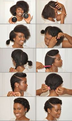 Simple but cute protective natural hair styles, afro, www. - - Simple but cute protective natural hair styles, afro, www. Best Hair Masks Trends Best D. Cabello Afro Natural, Pelo Natural, Natural Hair Tips, Natural Hair Journey, Natural Makeup, Natural Girls, Going Natural, Natural Hair Products, Blow Dry Natural Hair