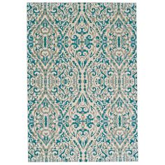 Splash your floors in style with the eye-catching Saleya Turquoise Area Rug. Power loomed of polyester with a polypropylene pile, it is printed with a classic scrolling motif in hues of cream and turquoise. Try adding it to the master suite to liven up an all-white bedding ensemble, or simply use it to anchor your dining set for a distinctive way to pull together your entertaining space. This design is also a must-have when building your glamorous foyer from the ground up; Just add in a…