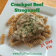 Crockpot Beef Stroganoff - 21 Day Fix approved!