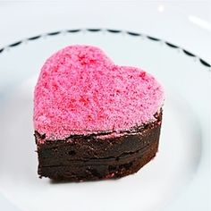 Perfect for your Valentine: Peppermint Schnapps Brownies with Fireball Whiskey Icing and Dusted Cinnamon Hearts