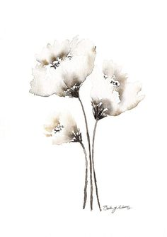Image result for how to paint a white carnation