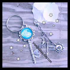 Key Ring I love you to the moon and back Bohemine by tranquilityy