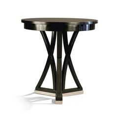 No P2218 ACCENT TABLE  Dia: 22 IN H: 23 IN  POLISHED CHROME BASE LJ# 42P FINISH POLISHED CHROME BASE
