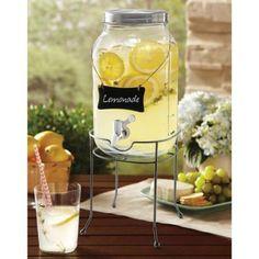 Order Home Collection Glass Mason Jar Drink Dispenser & Base - Walmart.com