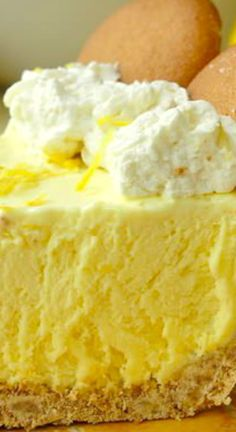 Old Fashioned Lemon Icebox Pie ~ This is a lemon icebox pie just like Grandma used to make... The filling freezes to a silky, luscious, creamy texture with plenty of lemony tart flavor - The ideal make ahead dessert for Sunday dinner or a summer BBQ.