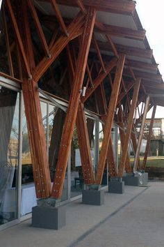 Timber Architecture, Timber Buildings, Architecture Details, Roof Design, Facade Design, House Design, Bamboo Roof, Building Foundation, Timber Roof