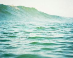 Sea Photography Nautical Water Wave Seagreen by BreeMadden on Etsy, $30.00