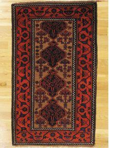 "Baluch rug,North East Persia,Khorassan area,circa 1890.Dimensions of the piece:5'.1""x2'.11"" (155x89 cm). | Hagop Manoyan, New York"