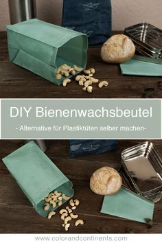 DIY: Make Beeswax Bags Yourself - Sustainable Traveling with Plastic Bags Alternative - Plastikfrei Recycled Crafts Kids, Recycled Art Projects, Sewing Projects, Jar Crafts, Diy And Crafts, Alternative To Plastic Bags, Make Your Own Makeup, Floral Patches, Diy Recycle