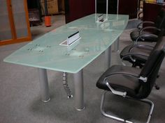 Executive Clearwater Conference table with electronic control panel