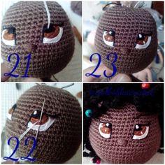 Photo - Her Crochet Crochet Doll Pattern, Crochet Patterns Amigurumi, Amigurumi Doll, Crochet Eyes, Crochet Baby, Knit Crochet, Doll Eyes, Doll Face, Knitted Dolls