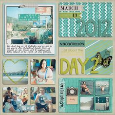 #papercraft #scrapbook #layout vacation scrapbooking, project life...I don't understand this but it looks nice =)