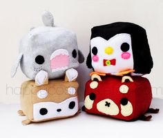 Animal Plush - Kawaii Plushie , Cute Stuffed Animal, Children Softie on Etsy, $15.00