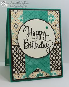 I just love the colours and patterns in the new coffee break stampin up stylized birthday card bookmarktalkfo Gallery