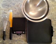 Some essential tools by @OXO and for making pancakes. Griddle pan by All Clad.