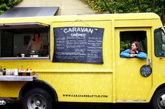 Brooke Sumner, left, owner of Caravan Crepes, and staffer Dawn Shelley recently operated a food truck during lunchtime in the South Lake Union neighborhood.