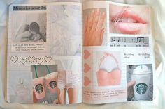 I want to make a notebook collage ♡♡♡ Tumblr Scrapbook, Notebook Collage, Notebook Ideas, Cute School Supplies, Arts And Crafts, Diy Crafts, Wreck This Journal, Studyblr, Smash Book