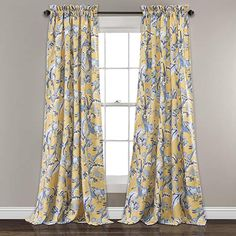 Amazon.com : french country bedrooms colors Yellow Curtains, Floral Curtains, Drapes Curtains, French Country Curtains, French Country Bedrooms, Light Blocking Curtains, Room Darkening Curtains, Target, Floral Room