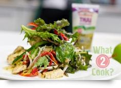 Thai Chicken Salad: Making a delicious Thai salad is so simple with Gourmet Garden Thai Seasoning Thai Seasoning, Clean Eating Recipes, Cooking Recipes, Gourmet Garden, Thai Chicken Salad, Recipe Using Chicken, Healthy Salads, Easy Dinner Recipes, Salad Recipes