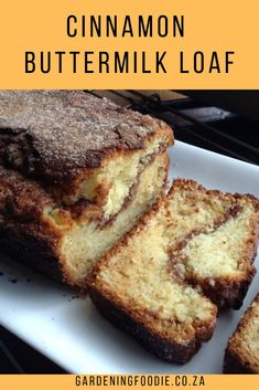 Enjoy a slice or two of this easy to make Cinnamon Buttermilk Loaf. Deliciously … Enjoy one or two slices of this lightly prepared cinnamon buttermilk loaf. Deliciously soft, filled and topped with cinnamon sugar, perfect for a cup of coffee or tea. Buttermilk Coffee Cake, Coffee Cake Loaf, Buttermilk Cake Recipe, Buttermilk Bread, Recipes With Buttermilk, Muffins With Buttermilk, Cinnamon Recipes, Cinnamon Bread, Banana Bread Recipes