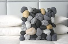 """""""River Rock"""" pillow cover from Etsy $100.00"""