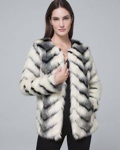 730f6807ac3 PETITE Luxe Faux Fur Coat in 2019   Products   Grey faux fur coat ...