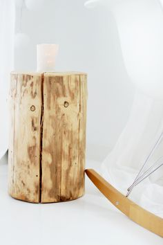 Could use a sanded stump as a little table or stool