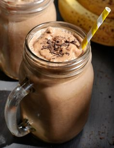 Chocolate Banana Protein Shake (Vegan, Nut-free) Serves 1  Ingredients:  1 frozen banana* 3 tablespoons hemp hearts 1/2 cup water 1 1/2 tablespoons raw cacao powder (or cocoa powder) 1/2 teaspoon vanilla extract (alcohol-free, if desired) 1/4 teaspoon ground cinnamon 3-4 ice cubes (optional) 2 handfuls fresh spinach (optional)