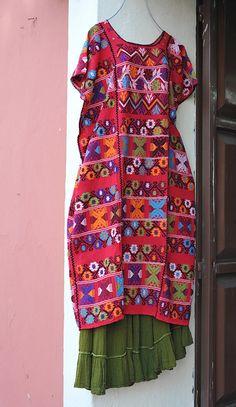 Amuzgo Huipil Mexico by Teyacapan, via Flickr