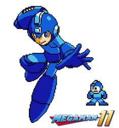 Megaman 11 - The fighting robot (8 bits)